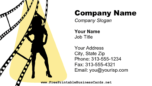 Female Model Photography business card