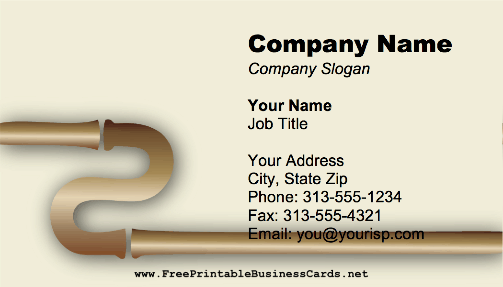 Bronze Pipes business card