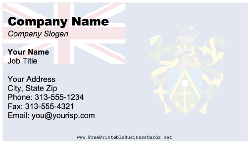 Pitcairn Islands business card