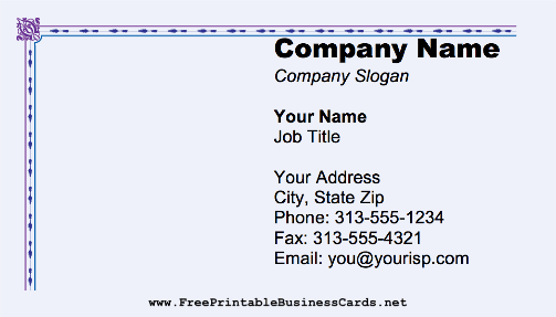 Plain Border business card