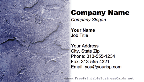 Purple Plaster business card