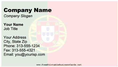 Portugal Business Card business card