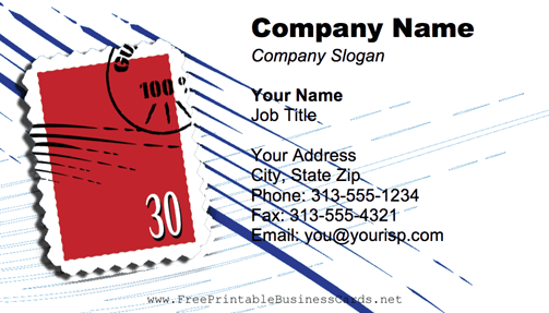 Postage Stamp business card