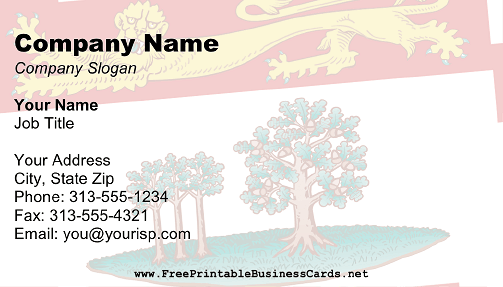 Flag of Prince Edward Island business card