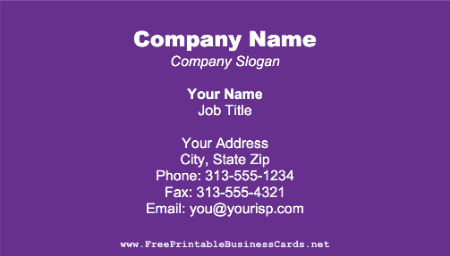 Dark Purple business card