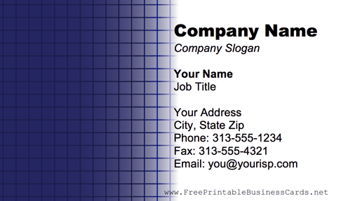 Purple Grid business card