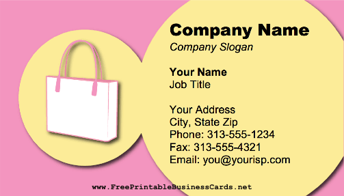 Purse business card