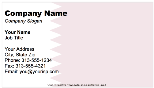 Qatar business card