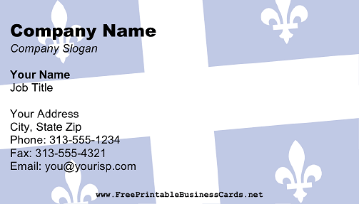 Flag of Quebec business card