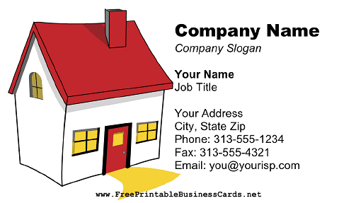 Real Estate Business Color business card