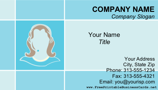 Receptionist business card