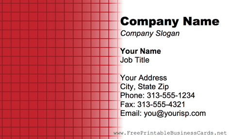 Red Grid business card