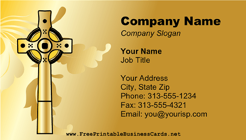 Gold Cross business card