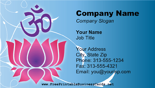 Religious Hindu business card