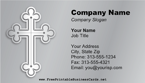 Christian Cross business card