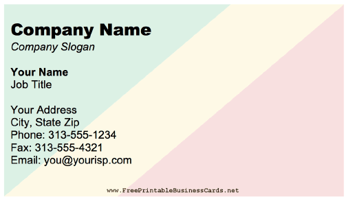 Republic Of The Congo business card