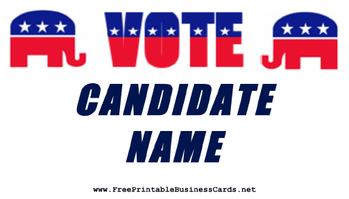 Republican Sign business card