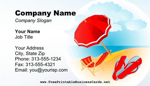 Retirement Business Card business card