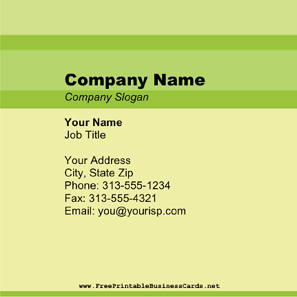 Retro Green Square 2 business card