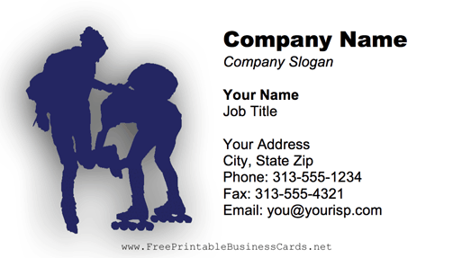 Rollerskaters business card