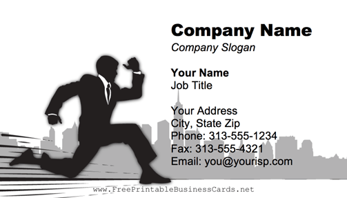 Running Businessman business card