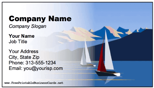 Sailboats Business Card business card
