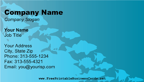 Scuba Fish business card