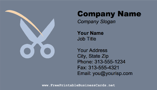 Shears business card