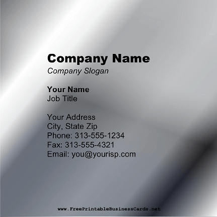 Medium Silver Square business card