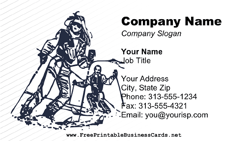 Ski Instructor business card