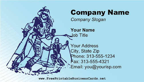Skiing Instructor business card