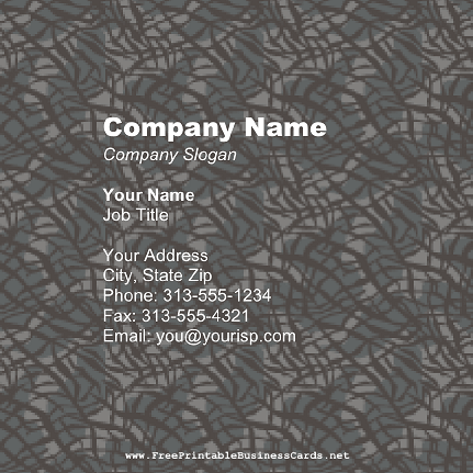 Snake Skin Square business card