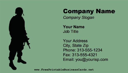 Soldier business card