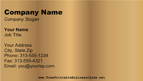 Dark Gold business card