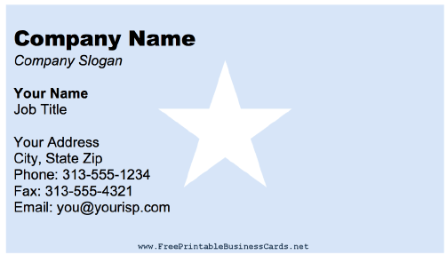 Somalia Business Card business card