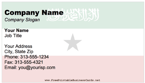 Somaliland Business Card business card