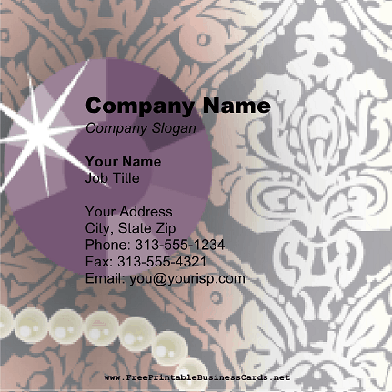 Jewel Stone Square business card