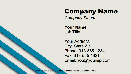Stripes Corner business card