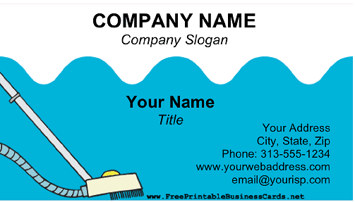 Swimming Pool Maintenance business card