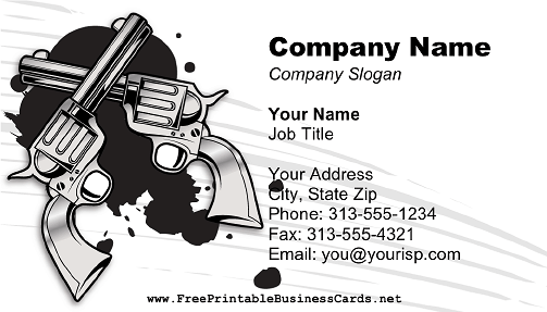 Double Guns business card