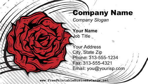 Modern Rose business card
