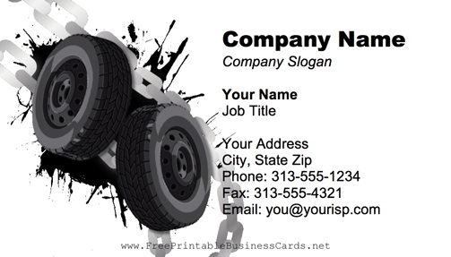 Tire Chains business card
