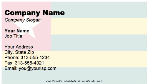 Togo business card