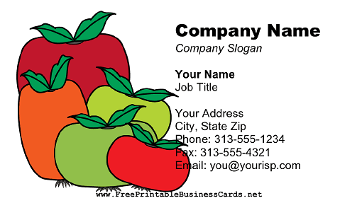 Tomatoes business card