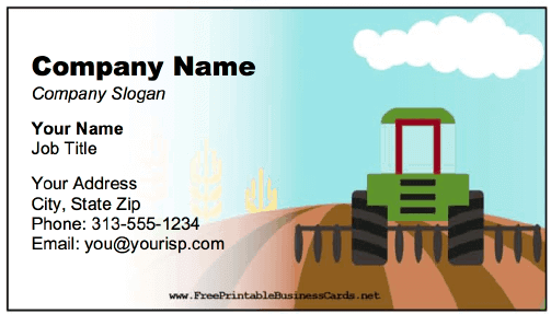 Tractor Business Card business card