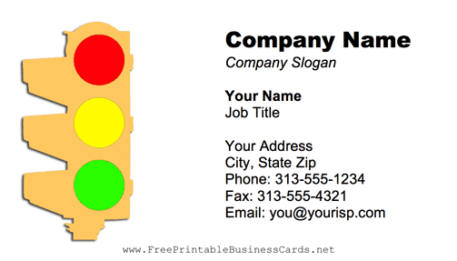 Traffic Light business card