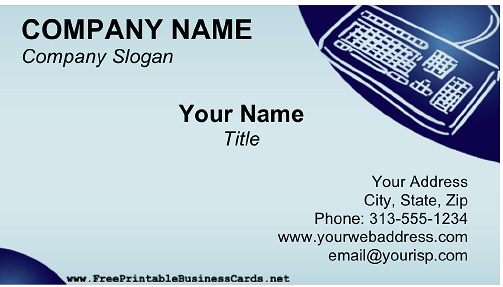 Transcription business card
