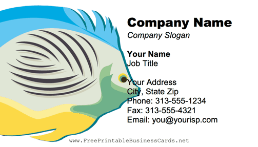 Tropical Fish business card