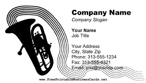 Tuba business card