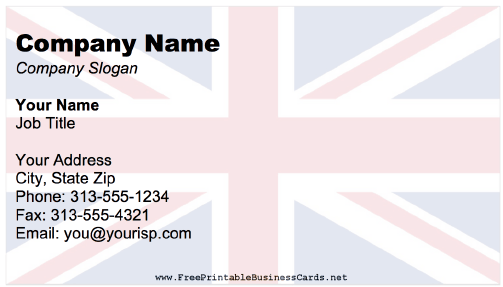 United Kingdom business card